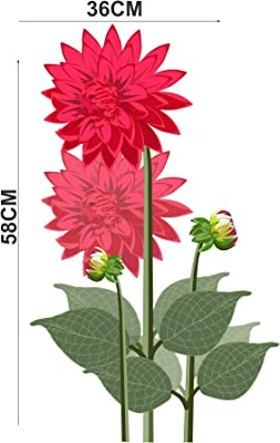 Decor Villa Decorative Home Flower Door Sticker (PVC Vinyl, Size- 58 cm x 35 cm), DVHMS1267L