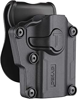 Universal OWB Holster, Tactical Polymer Paddle Holsters for 1911 Beretta Bersa CZ FN Girsan Hi-Point Ruger Sig-Sauer Smith&Wesson Springfield Steyr Taurus Walther & More, Adjustable Size & Direction