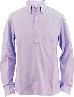 [SWEEP!! LosAngeles スウィープ ロサンゼルス] メンズ コットン オックスフォード カプリボタンダウンシャツ PULLOVER OXFORD LAVENDER(ラベンダー)