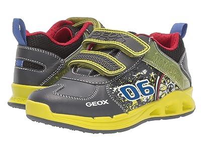 Geox Kids Jr Dakin 5 (Little Kid) (Grey/Lime) Boys Shoes