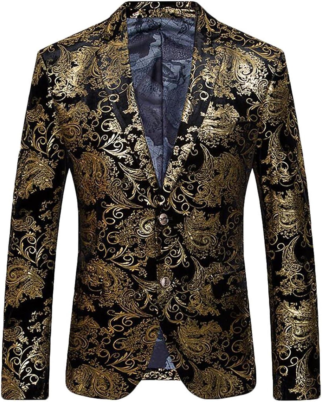 04730f5034 JXG Men Dress Suit Luxury Floral Slim Fit Party Party Party Blazer Jacket  3940a0