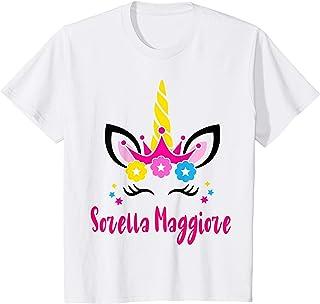 Bambino Unicorno Sorella Maggiore 2021 T-Shirt Fantastiche Regalo Maglietta