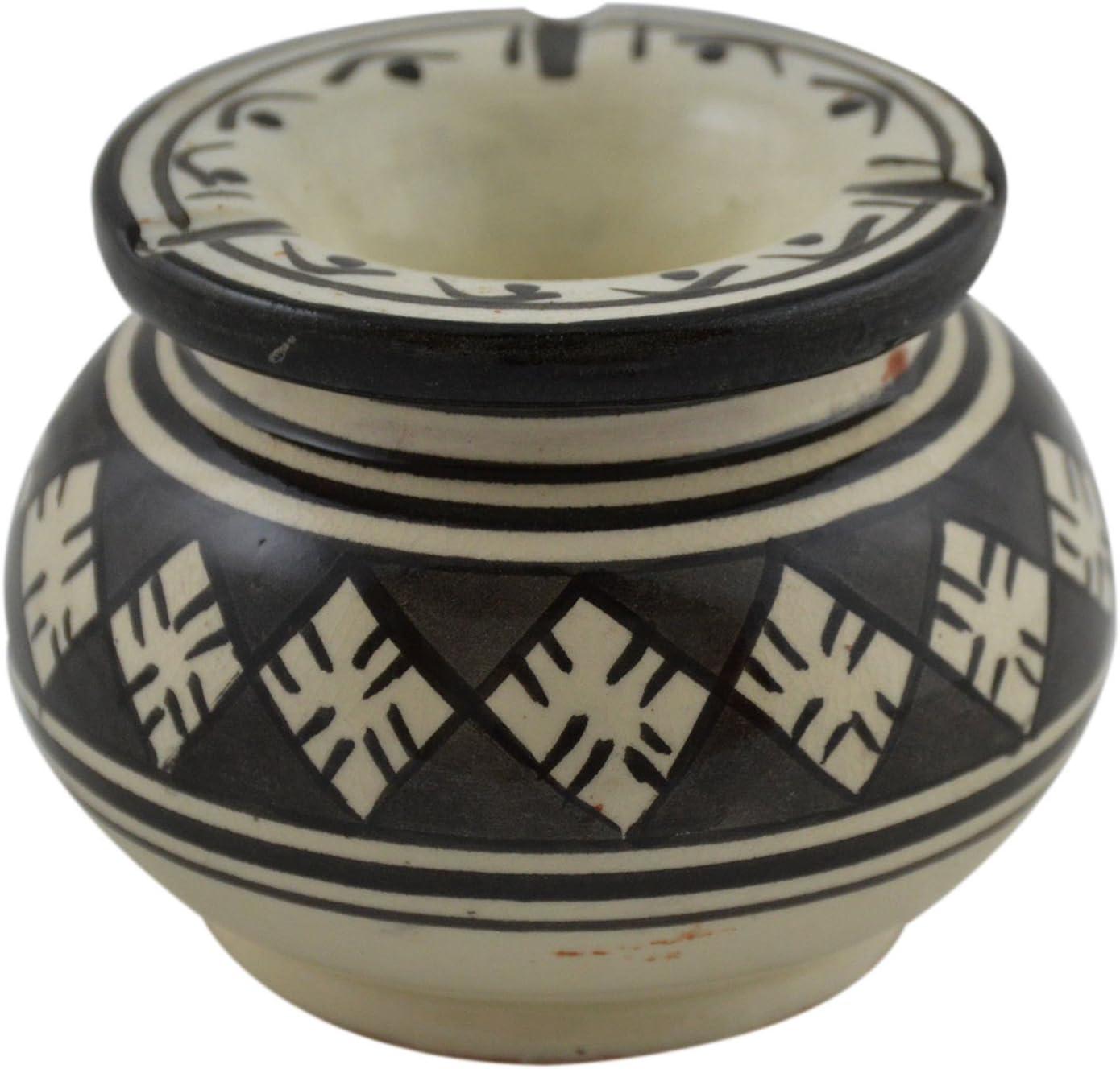 Ceramic Ashtrays Max 43% OFF Hand Made Smokeless Max 87% OFF bla Moroccan Medium