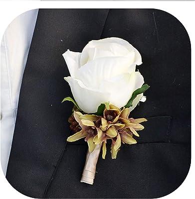 Amazon.com: Ramo de flores artificiales decorativas de látex ...