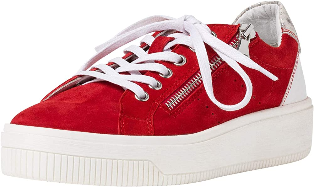Marco tozzi,scarpe da ginnastica basse per donna,sneakers,in pelle scamosciata 2-2-23769-24