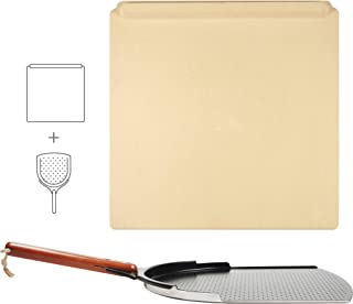 "The Ultimate Pizza Making Kit – 14"" x 16"" Pizza Stone and 14"" Pizza Peel 