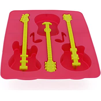 Elbee BPA-Free Silicone Guitar Ice Tray - Stir & Chill Your Drink with a Guitar!