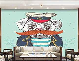 Office wall decal Bedroom decor funny wall decal kids wall sticker cwd241 kids decor Mustache wall decal sticker