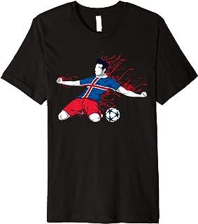 Iceland National Soccer Team Jersey Icelandic Football Gifts Premium T-Shirt