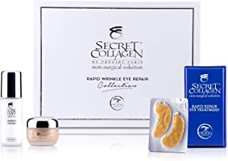 Secret Collagen Wrinkle Repair Eye Care Collection, Set of 3 - Deep Moisturizing Skin Care Formula with Retinol - Firming & Anti Aging Facial Products for Dark Spot and Line Free Undereyes