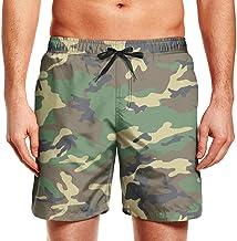 YGRAA Camo Beach Shorts Swim Wear Fashion Board Shorts for Men