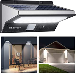 comprar comparacion OUSFOT Luz Solar Exterior LED Foco Solar Exterior con Sensor de Movimiento Lámpara Solar Impermeable 3 Modos Gran Ángulo 1...