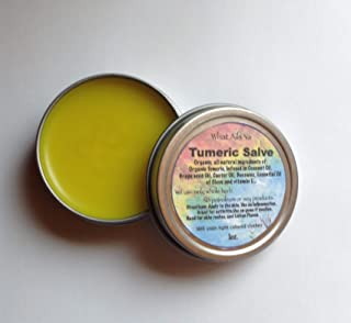 "Turmeric Salve 1 oz tin"" What Ails Ya"" unisex -Tumeric Salve"