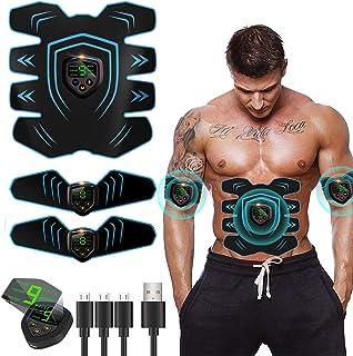 comprar comparacion EGEYI Electroestimulador Muscular Abdominales Cinturón,Masajeador Eléctrico Cinturón con USB,Entrenador Inalámbrico Portát...