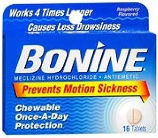 Bonine Bonine Motion Sickness Protection Raspberry 16 Tablets (Pack 2)