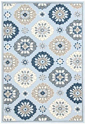 """Amer Rugs Piazza Area Rug, 7'6""""x9'6"""", Light Blue"""