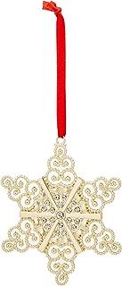 Lenox Silver Ornaments Golden Snowflake, Gold
