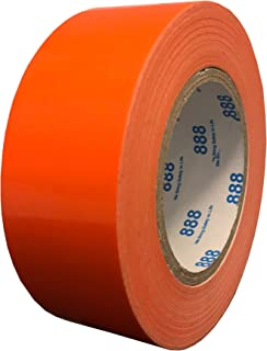 MG888 Hi-Vis Orange Duct Tape 1.88 Inches x 60 Yards, High Visibility, Duct Tape for Crafts, DIY, Repairs, Indoor Outdoor Use, Book Repair, Must Have Garage Tool