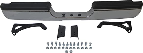 94-01 Dodge Pickup Ram1500 (W/o Sport Model) / 94-02 RAM 2500 3500 Pickup Rear Step Bumper Chrome Full Assy with Top Pad, with Outer Bracket, with Inner Bracket, with Hintch CH1102328