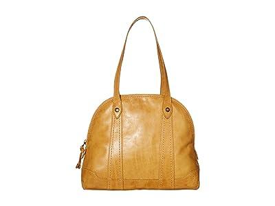 Frye Melissa Domed Zip Satchel (Sunflower) Handbags