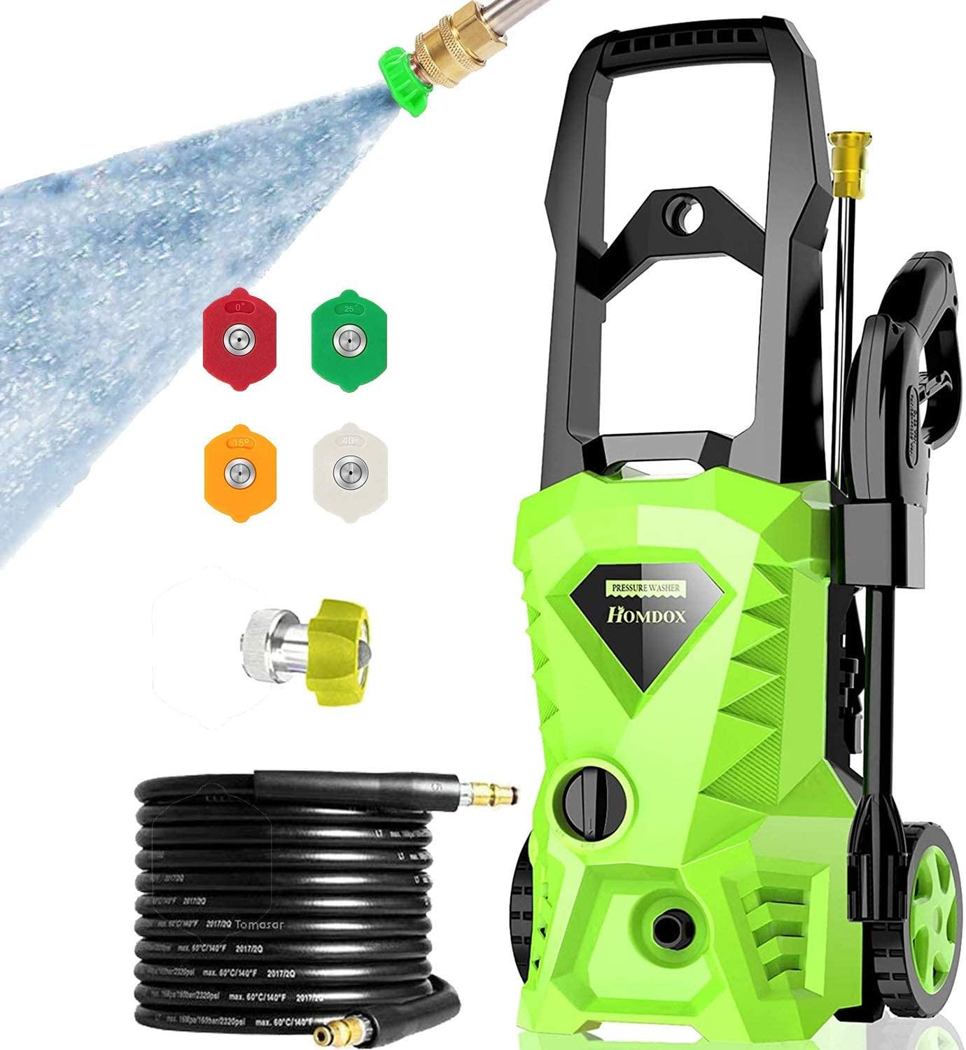 Max 57% OFF Homdox Electric Pressure Washer 2500 Gifts 1.5 PSI GPM Power