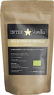 InterVanilla BIO Bourbon Vanilleschoten, 10 Stück Vanille Schoten 12-13 cm, Bourbon Vanilleschote in Premium A Qualität aus Madagaskar