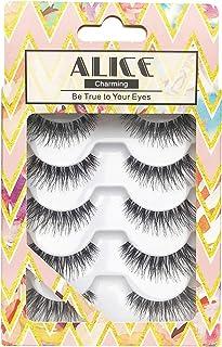 ALICE False Eyelashes 120 Natural Wispy Lashes 5 Pairs Multipack