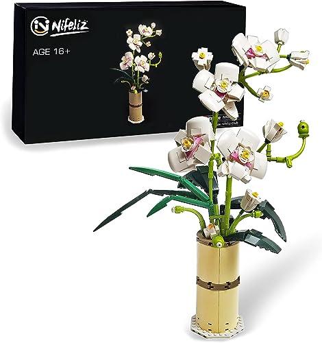 wholesale Nifeliz Home Phalaenopsis Flower Bouquet Building Kits; Orchid Bonsai Creative Building Project wholesale for sale Adults, Artificial Flower New 2021 (588 Pieces) sale