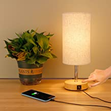 tronisky Touch Control Bedside Table Lamp, Nightstand Lamp with 2 USB Charging Ports 3 Way Dimmable Bedside Desk Lamps Mod...