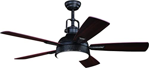 2021 Walton 52 In. Bronze Industrial Loft Ceiling new arrival Fan 2021 with LED Light Kit and Remote online sale