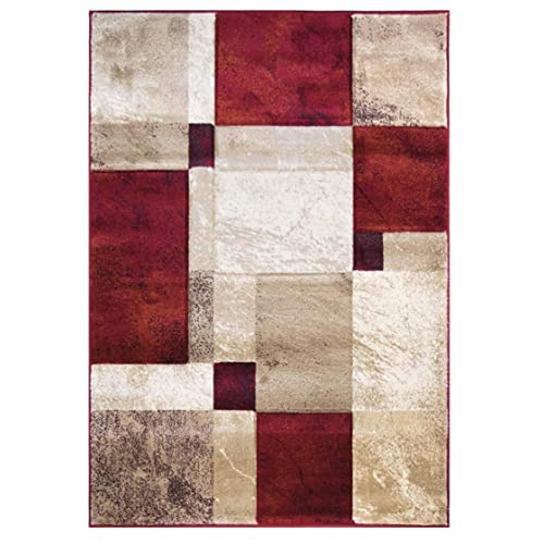 Red Black Tan Area Rug Amazon Com