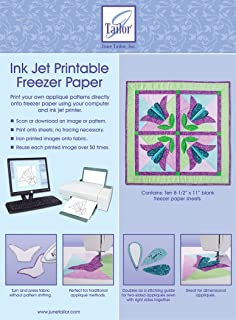 June Tailor 8-1/2-Inch by 11-Inch Ink Jet Printable Freezer Paper, 10-Pack (JT408)