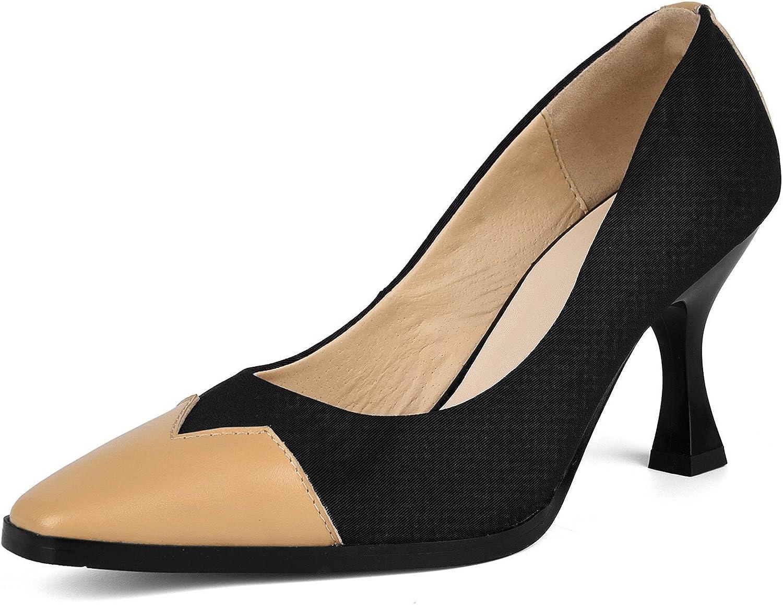 DANNEL Hoof Block High Ankle Heels Square Toe Office Women Dress Pumps