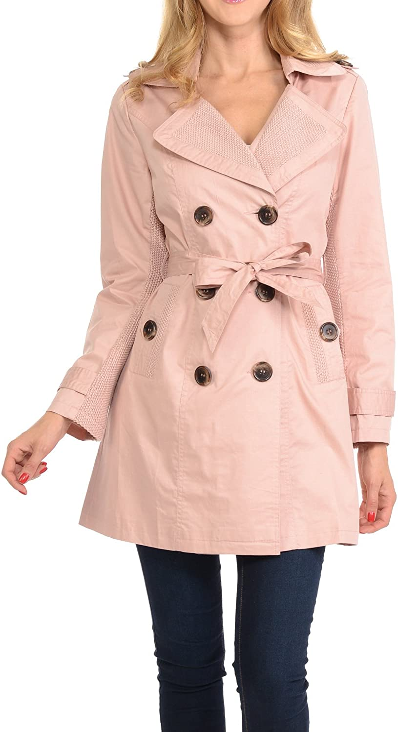 Auliné Collection Women's Fashion Breasted Trench Double Coat Our Cheap mail order shopping shop most popular
