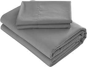 Prime Bedding Bed Sheets - 4 Piece Queen Sheets, Deep Pocket Fitted Sheet, Flat Sheet, Pillow Cases - Queen Sheet Set, Dark Gray