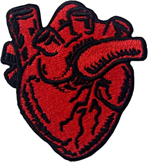 X-Ray Anatomical Heart Embroidered Badge Iron On