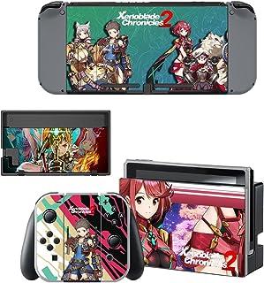 Nintendo Switch 任天堂スイッチ ゼノブレイド2 xenoblade スキンシール 保護カバー 本体用 + コントローラー用 オリジナルステッカー セット