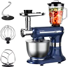 Aifeel Kitchen Mixers, 6 in 1 Electric Multifunctional Stand Mixer, with 6Qt Food Grade Bowl, 3 Mixing Accessories, Food G...