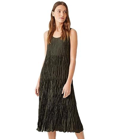 Eileen Fisher Full-Length Tiered Dress in Crushed Silk Habutai