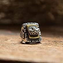 crown Mexican Biker Ring Sterling Silver Men Vintage Custom Skull king royal