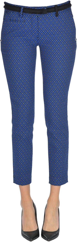 MASON'S Women's MCGLPNC000006009I blueee Cotton Pants