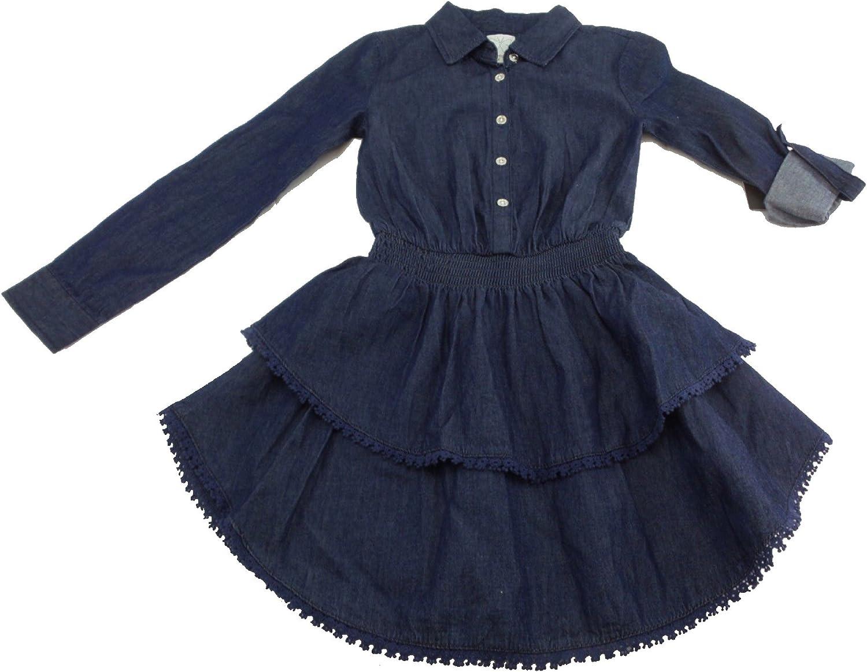 Ella Moss Button Front Dress Denim, 8