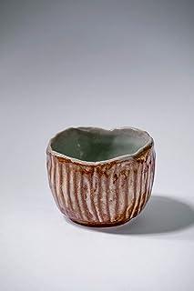 Taza de cerámica rústica vintage hecha a mano sause bowl decoración del hogar esmalte marrón gris texturizado