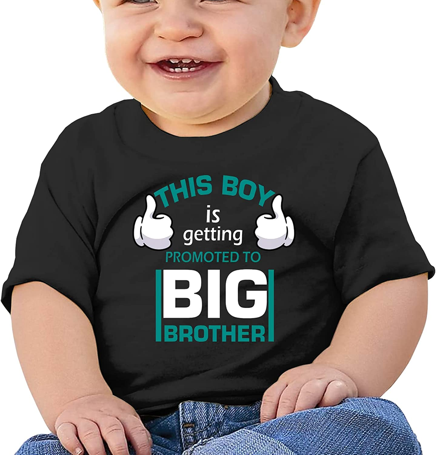 This Boy is Getting Promoted Big Brother Baby T-Shirts Novelty for Youth Tees with Cool Designs