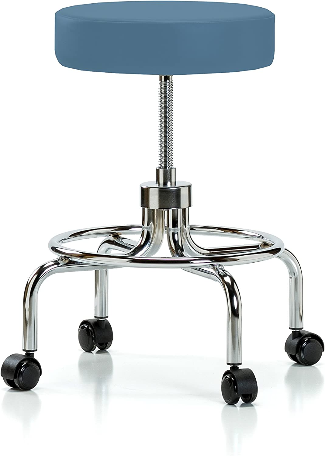 Perch Super-cheap Retro Rolling Exam Stool with Carpet or Wheels Linoleu for Branded goods