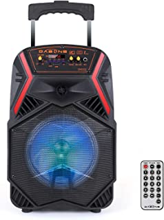 """8"""" Portable Bluetooth Speaker Bass LED Light Up Tailgate Party Loudspeaker Wireless Stereo with Rechargeable Battery and R... photo"""