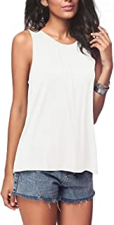 iGENJUN Women's Summer Sleeveless Pleated Back Closure...