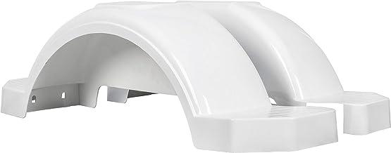 "ECOTRIC Set of 2 Single Axle Trailer Fenders 13"" Wheels Tire Skirt Boat (White)"