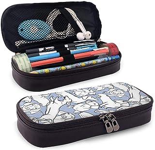 Bassotto, astuccio portapenne in pelle PU dipinta a mano con cerniera, materiale scolastico per studenti