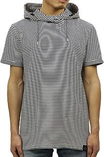 [スコッチアンドソーダ] SCOTCH&SODA 正規販売店 メンズ ボーダー パーカー 半袖Tシャツ BONDED JERSEY TEE WITH HOOD 142665 0221 54438 COMBO E (コード:4123043964)
